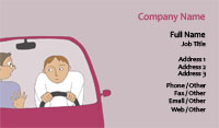 Pink Driving Instructor Business Card Template